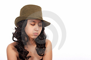 Sad Beautiful Woman Royalty Free Stock Image - Image: 4027946