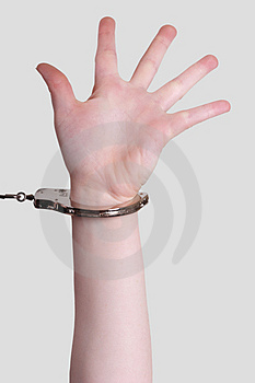 Handcuffed Stock Image - Image: 4030291
