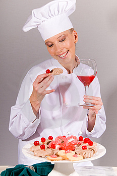 All Cherry Chef Royalty Free Stock Image