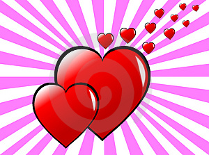 Funky Pink Hearts Background Royalty Free Stock Photography - Image: 4031067