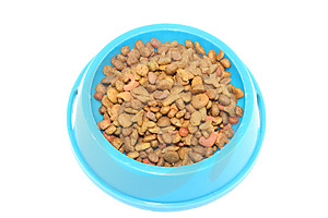 Pet's food (cat, dog, etc.); isolated over whte Stock Photo