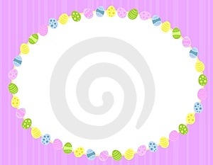 Oval Easter Eggs Background Frame Royalty Free Stock Photography - Image: 4039887