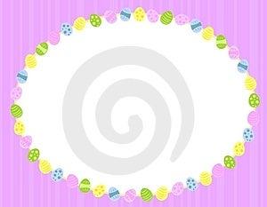 Marco Oval Del Fondo De Los Huevos De Pascua Fotografía de archivo libre de regalías - Imagen: 4039887