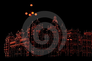 Mysore Palace In Dark-I Royalty Free Stock Image - Image: 4041476