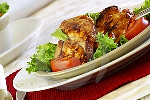 Barbecue Chicken Free Stock Photo