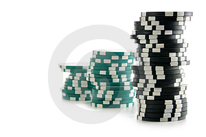 Stacks Of Gambling Chips Royalty Free Stock Images - Image: 4049309