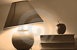 Lamp And Books Stock Image - Image: 4052081