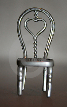 Heart Chair Aluminium Stock Image - Image: 4055391