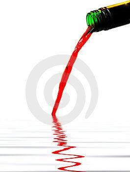 El Vino Rojo Vierte… Fotos de archivo - Imagen: 4056703