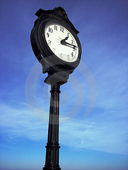 Black Clock Royalty Free Stock Photography - Image: 4058157