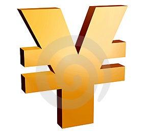 Simbolo Di Yen, Fotografie Stock Libere da Diritti - Immagine: 4059048