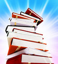Colored books on white Stock Images