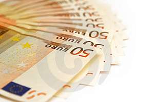 Fifty Euro Banknotes Stock Photos - Image: 4060423