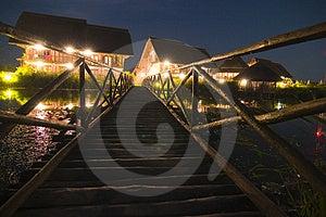 Exotic Resort At Night Royalty Free Stock Images - Image: 4063539
