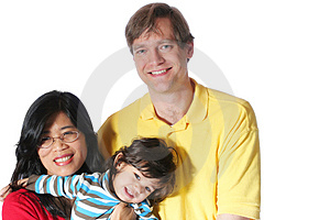 Interracial Family Royalty Free Stock Photo - Image: 4066105