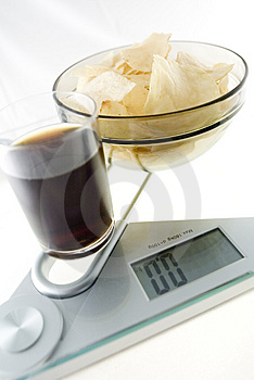 Diet Chips And Coke Stock Image - Image: 4067121