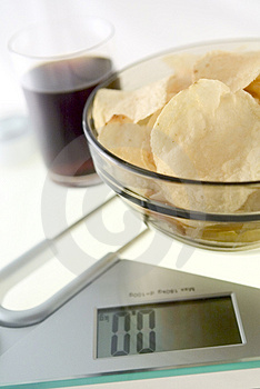 Diet Chips And Coke Royalty Free Stock Image - Image: 4067156