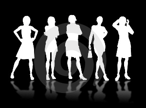 Businesswomen Silhouettes Stock Images - Image: 4067804