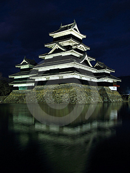 Matsumoto Castle 03, night, Japan Stock Images