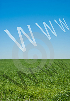 Internet symbol www Stock Image