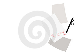 Contract Conception Royalty Free Stock Photography - Image: 4074427