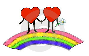Two Hearts Royalty Free Stock Photos - Image: 4078198