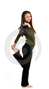 Slim And Fit Young Lady Stock Images - Image: 4083294