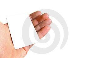 Hand holding blank card Free Stock Photography