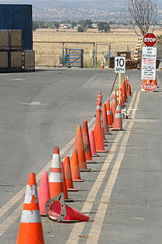 Row Of Cones Stock Image - Image: 4086111