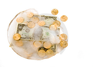 Frozen Cash Royalty Free Stock Images - Image: 4088149