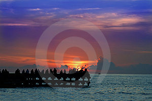 Enjoy Sunset Or Sunrice Stock Image - Image: 4091121