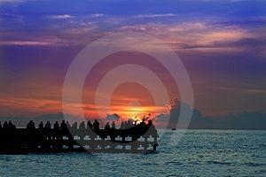 Aprecie O Por Do Sol Ou O Sunrice Imagem de Stock - Imagem: 4091121