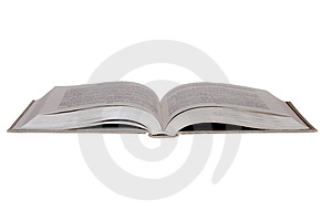 Open book isolated on white Stock Image