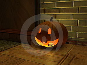 Pumpkin Grin Royalty Free Stock Images - Image: 4096899