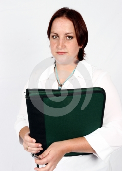 Businesswoman With File Royalty Free Stock Photo - Image: 416795