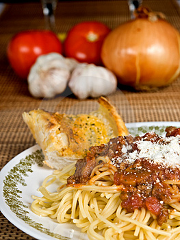 Spaghetti & Meat Sauce Royalty Free Stock Image