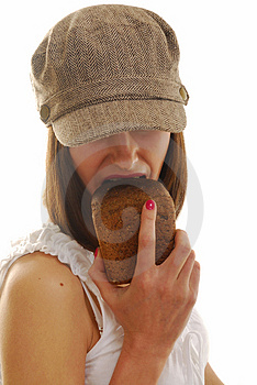 Portrait With Bread Stock Photography - Image: 4103852