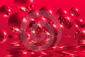 Red Bubbles Royalty Free Stock Photo - Image: 4105065