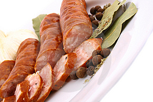 Fresh Healthy Sausage Royalty Free Stock Image - Image: 4107146