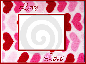 Fuzzy Love Hearts Frame Royalty Free Stock Images - Image: 4107589