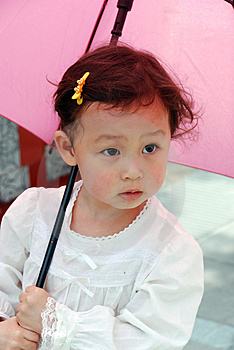Child Under Umbrella Royalty Free Stock Photo - Image: 4110685