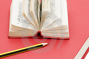 Pencil And Books Royalty Free Stock Images - Image: 4110869