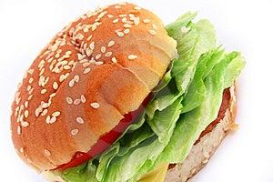 Classic Beef Burger Stock Image