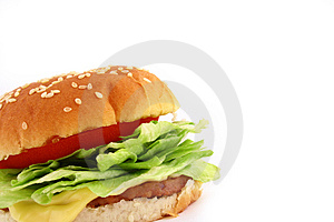 Classic Beef Burger Royalty Free Stock Image