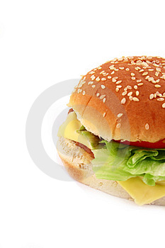 Classic Beef Burger Stock Images - Image: 4111664