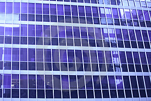 Blue Skyscraper Window Detail Royalty Free Stock Photos - Image: 4111838