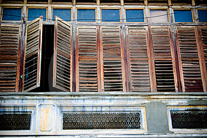 Wooden Windows Stock Images - Image: 4112684