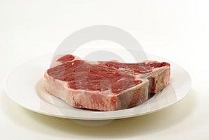 Rohes T-Bone-Steak Lizenzfreie Stockfotografie
