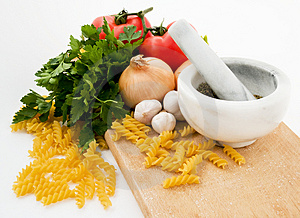 Tomato Pasta Ingredients Stock Photos - Image: 4116533