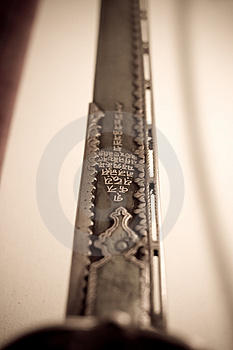 Antique Sword With Inscriptions Stock Photography - Image: 4117642
